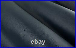 DARK BLUE ITALIAN SAFFIANO Leather Calf Cow Hide Scraps Scrap Square Pieces