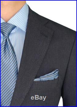 DTI BB Signature Italian Mens Two Button Suit Set 2 Piece Trim Fit Jacket Pant