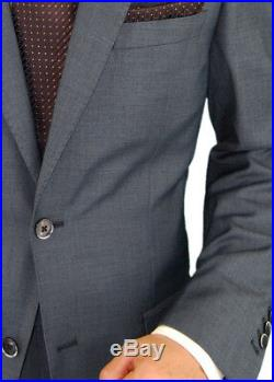 DTI BB Signature Italian Mens Wool Suit Two Button 2 Piece Ticket Pocket Jacket