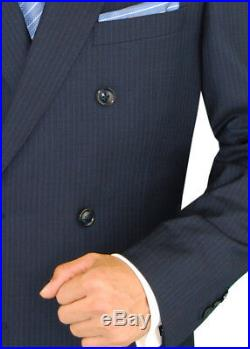 DTI GV Executive Italian Mens Suit Set 2 Piece Double Breasted Jacket