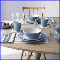Denby Elements 12 Piece Dinner Set, Blue