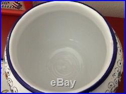 Deruta Italian Pottery Ceramic Biscotti Jar Ricco Deruta Blue Great Piece Price