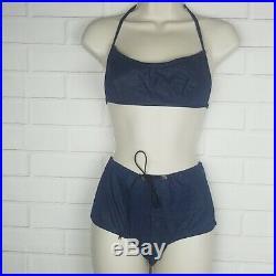 Diesel Women's 2 piece Italian blue denim bikini size M