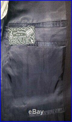 ERMENEGILDO ZEGNA 42R 34x32 DARK BLUE TWO PIECE SUIT 3 BUTTON WOOL/CASHMERE