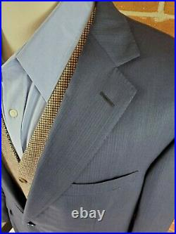 Ermenegildo Zegna Su Misura 2 Piece Suit 46 Navy Blue Recent 2020 Production