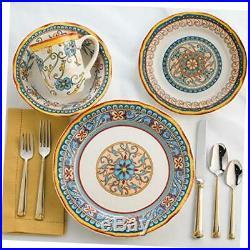 Euro Ceramica Duomo Collection Italian-Inspired 16 Piece Ceramic Dinnerware