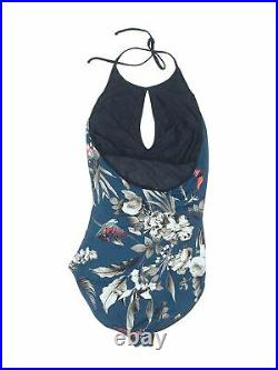 FUZZI Women Blue One Piece Swimsuit 40 italian