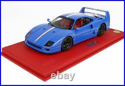 Ferrari F40 Light Blue Italian Stripe 1987 Limited 24 Pieces With Case 1/18