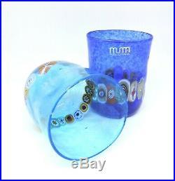 Glasses Glass Murano 2 Piece Murrina Multicolour Blue Easy for Use Regal