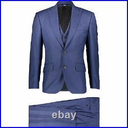 HARDY AMIES 3 PIECE P. O. W Check SOFT ITALIAN WOOL Suit UK38S EU48S C38xW32 NEW