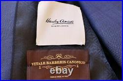 HARDY AMIES 3 PIECE POW Check SOFT ITALIAN WOOL Suit UK46 EU56 C46 x W40 NEW