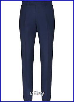 HARDY AMIES Blue 3 PIECE ITALIAN WOOL & MOHAIR Suit UK44 US44 IT54 C44xW38 NEW