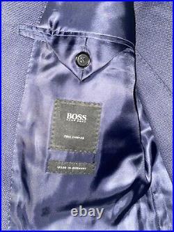 HUGO BOSS 38R 40S Three Piece Suit Italian Woven COLOMBO -Original$2195.00