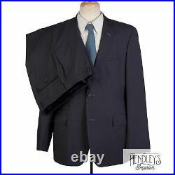 HUGO BOSS Suit 42 R Pigeon Blue Subtle Graph Check Wool 2-Piece Edison2/Power
