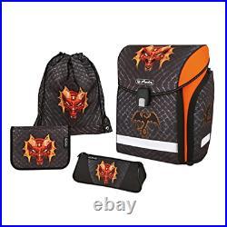 Herlitz School Bag Midi Plus 4-Piece Set Dragon Dragon
