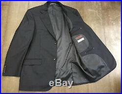 IDeal By ZANETTI Navy Blue Wool 2 Piece Suit Super 120S Designer 44 W36 L33