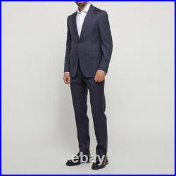 ISAIA Napoli 2-piece Gregorio dark blue full canvas suit 38R US 48R EU Drop7 NEW