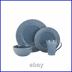 Italian Countryside 16 Piece Dinnerware Set, Service for 4, Blue
