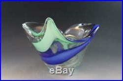 Italian Rubelli V. A. Murano Art Glass Cornucopia Center Piece Vase Bowl