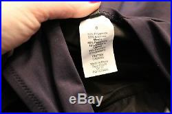 J. Crew $98 Italian Matte V-Neck One-Piece Swimsuit 0 XS NWOT E8329 Navy Blue
