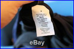 J. Crew $98 Italian Matte V-Neck One-Piece Swimsuit 6 S Small E8329 Navy Blue