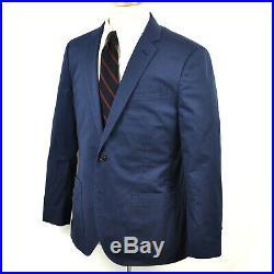 J. Crew Ludlow Blue Italian Cotton Patch Pocket Unlined Sportcoat Jacket 40S