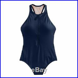 J. Crew Zip-front one-piece swimsuit in Italian matte Navy Size 2 G3618 J