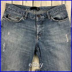 Just Cavalli Italian Patch Pocket Antique Wash Jeans Size 36