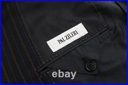 LNWOT $2000 Pal Zileri Blue 2 Piece Flat Front Suit EU 58 / US 48R