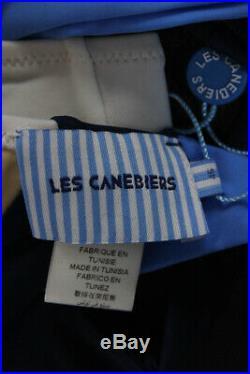 Les Canebiers Womens Sleeveless Two Piece Swimwear White Blue Size Italian 46