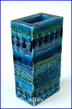 Lot of 2 ceramic pieces Vase and Astray made by artist Bitossi Rimini Blue Aldo