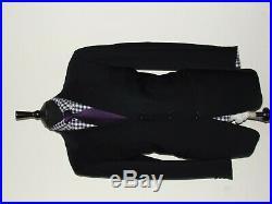 Luxury Mens Pal Zireli Italian Made 2 Piece Black Suit 40r W34 X L30.5
