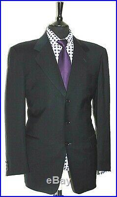 Luxury Mens Pal Zireli LI Italian Made 2 Piece Navy Suit 44r W38 X L32