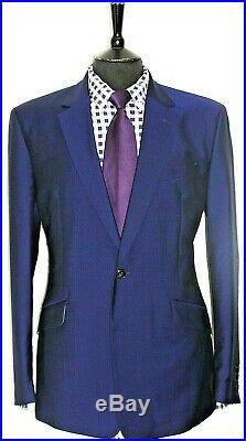 Luxury Mens Reiss London Royal Blue 2 Piece Suit 42r W36 X L31.5
