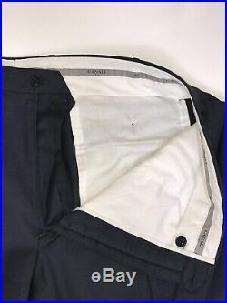 MINT Canali 1934 Flat Front Navy Micro Mens 48L 38x32 2 Piece 2 Button Suit B