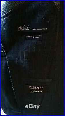 Mango Man Slim Fit 3 piece suit, 100% super 120 wool, SIZE M / EU 48 / UK 38
