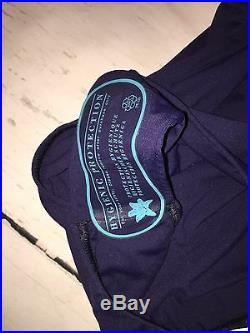 Melissa Odabash Italian Designer Blue One-Piece Lace Up Swimsuit Size US 2 New