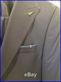 Men's Slim Fit 3 Piece Suit European Style Blue