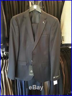 Men's Slim Fit 3 Piece Suit European Style Dark Blue