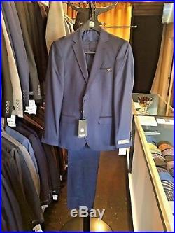 Men's Slim Fit 3 Piece Suit European Style Dark Blue, Black