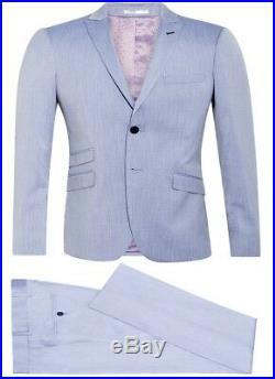 Men slim fit 3 piece suit Light Blue For Weddings Formal Wholesale Price