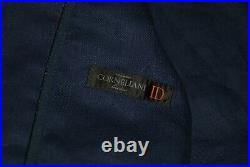 Mens Corneliani ID Blue Linen Wool Patch Pockets Sport Coat Blazer Jacket 52
