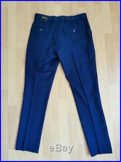 Mens Douglas hayward 2 piece navy suit Italian WOOL size 38 w32 L32 bnwt