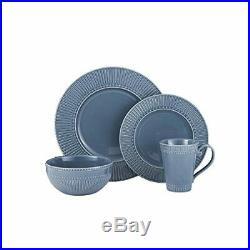 Mikasa Italian Countryside 16 Piece Dinnerware Set, Service for 4, Blue 519222