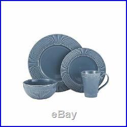Mikasa Italian Countryside 16 Piece Dinnerware Set Service for 4 Blue 5192226