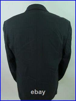 Missoni Pure Wool Solid Dark Navy Blue Italian Two Piece Mens Suit 34x33 42 L
