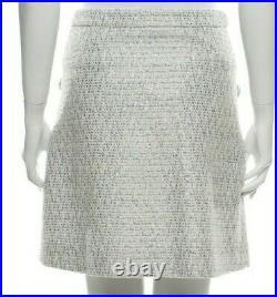 Moschino Blue Stripe Bows Boucle Italian 2 Piece Skirt Suit Jacket USA 4 NWT