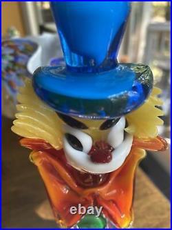 Murano Glass Vintage Clown 10 Tall, Beautiful Piece Mid Century