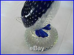 Murano art glass blue duck 12 1/2 piece