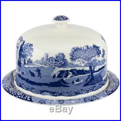 NEW Spode Blue Italian Two-Piece Serving Platter with Dome